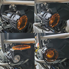 Nova motocicleta flipable protetor de luz nevoeiro guarda capa da lâmpada para bmw r1200gs f800gs r1250gs f850gs f750gs adv