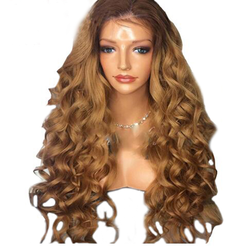 Eversilky Full Lace Wigs HUman Hair Ombre Blonde Color Remy Brazilian Hair Wig Water Wave Wigs Pre Plucked With Baby Hair