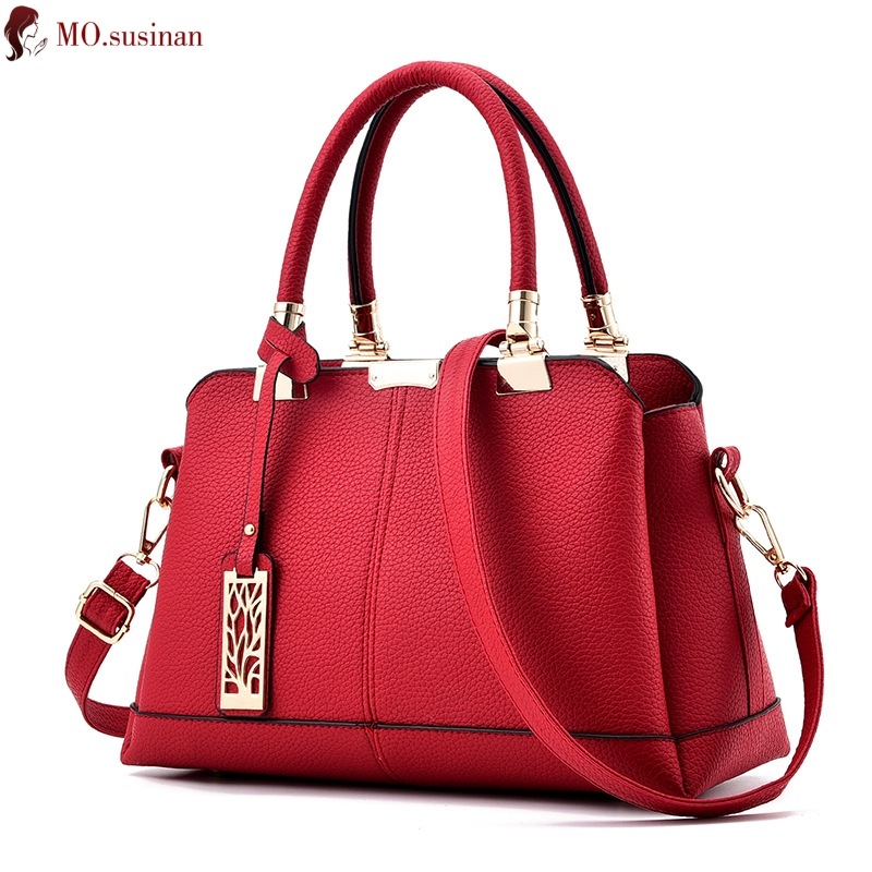 Luxury Handbags Women Bags Designer 2019 Fashion High Quality Leather Shoulder Bag Female Crossbody Bags For Women Big Tote Red