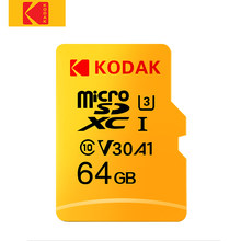 Kodak – carte mémoire flash Micro SD classe 10, 16 go 32 go 64 go 128 go 256 go 512 go