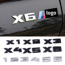 Автомобильная Эмблема багажника, боковая наклейка для BMW M M4 M3 M2 M1 M5 M6 X3 X5 X1 X6 X2 X4, автомобильный логотип, задний значок, письмо, наклейки на куз...