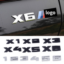 Tronco do carro emblema etiqueta lateral para bmw m m4 m3 m2 m1 m5 m6 x3 x5 x1 x6 x2 x4 auto logotipo traseiro emblema carta decalques do corpo acessórios