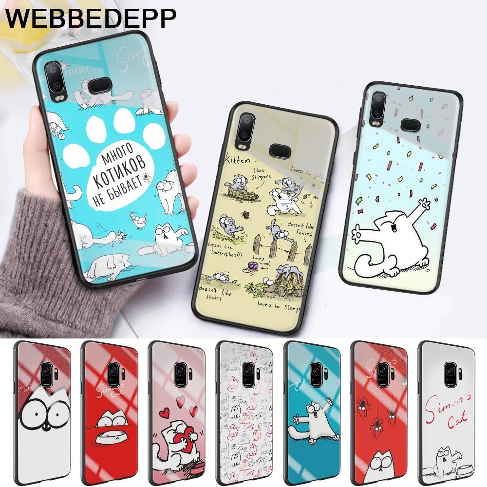 WEBBEDEPP Funny Cute Simons Glass Case for Samsung S7 Edge S8 S9 S10 Plus A10 A20 A30 A40 A50 A60 A70 in Fitted Cases from Cellphones Telecommunications