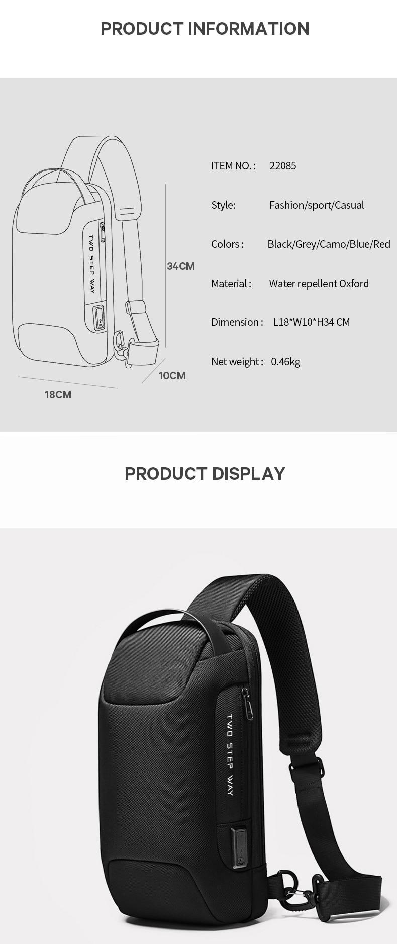 Fiber Streamline Anti-Theft Sling Bag