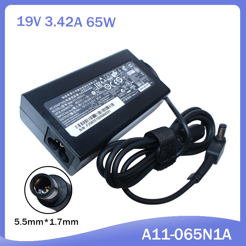 19V 3.42A 65W Laptop Charger For ACER Gateway MS2285 MS2274 NV78 CPA09-A065N1 A065R035L A11-065N1A Ac Adapter