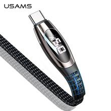 USAMS 5A rodzaj usb C szybki kabel przewód ładowania typu C do Samsung Galaxy Xiaomi Huawei usb do telefonu komórkowego C USB-C ładowarka kablowa przewód tanie tanio Nylon USB A Złącze ze stopu Black Red Cable For Samsung S9 Note 9 Xiaomi Mi 8 Huawei P20 Oneplus 5t Nokia 8 type c usb cable usb 2 0 type c usb type-c cable