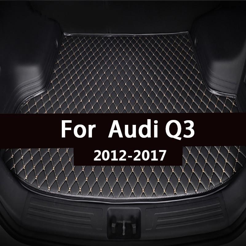 Коврик для багажника автомобиля для Audi Q3 2012 2013 2014 2015 2016 2017 грузового лайнера ковры салонные аксессуары напольные покрытия