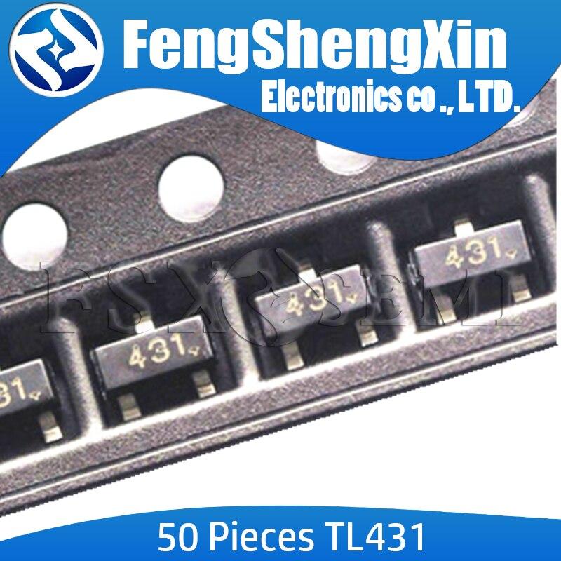 50pcs-lot New TL431 SOT TL431A SOT-23 431 SOT SMD new voltage regulator IC