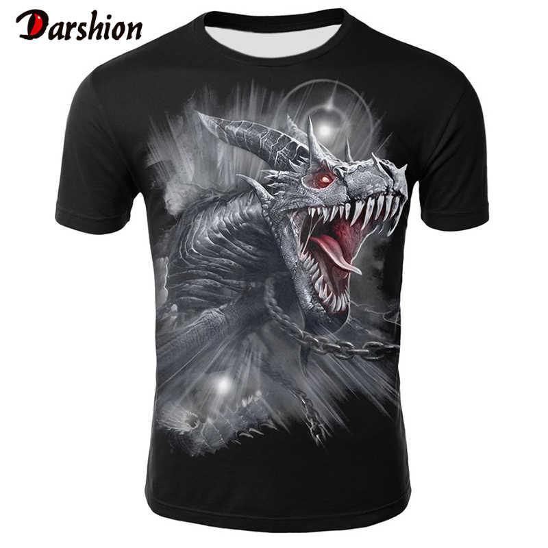 כהה סגנון חולצה 3D מודפס גברים של Tshirts קיץ חדש גברים של חולצה גברים של Loose חולצות אופנה גברים של חולצות חולצה וt בני