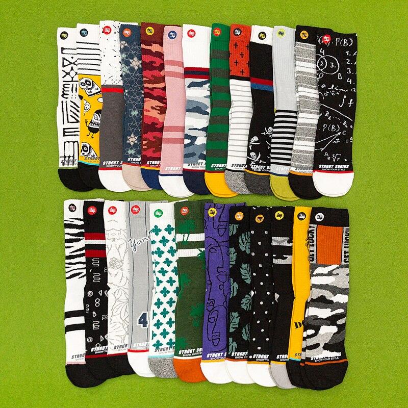 3Pairs/Pack Unisex Plus Size Winter Women Socks 100 Cotton Harajuku Colorful Funny Socks Women Standard Streetwear Size 35-43