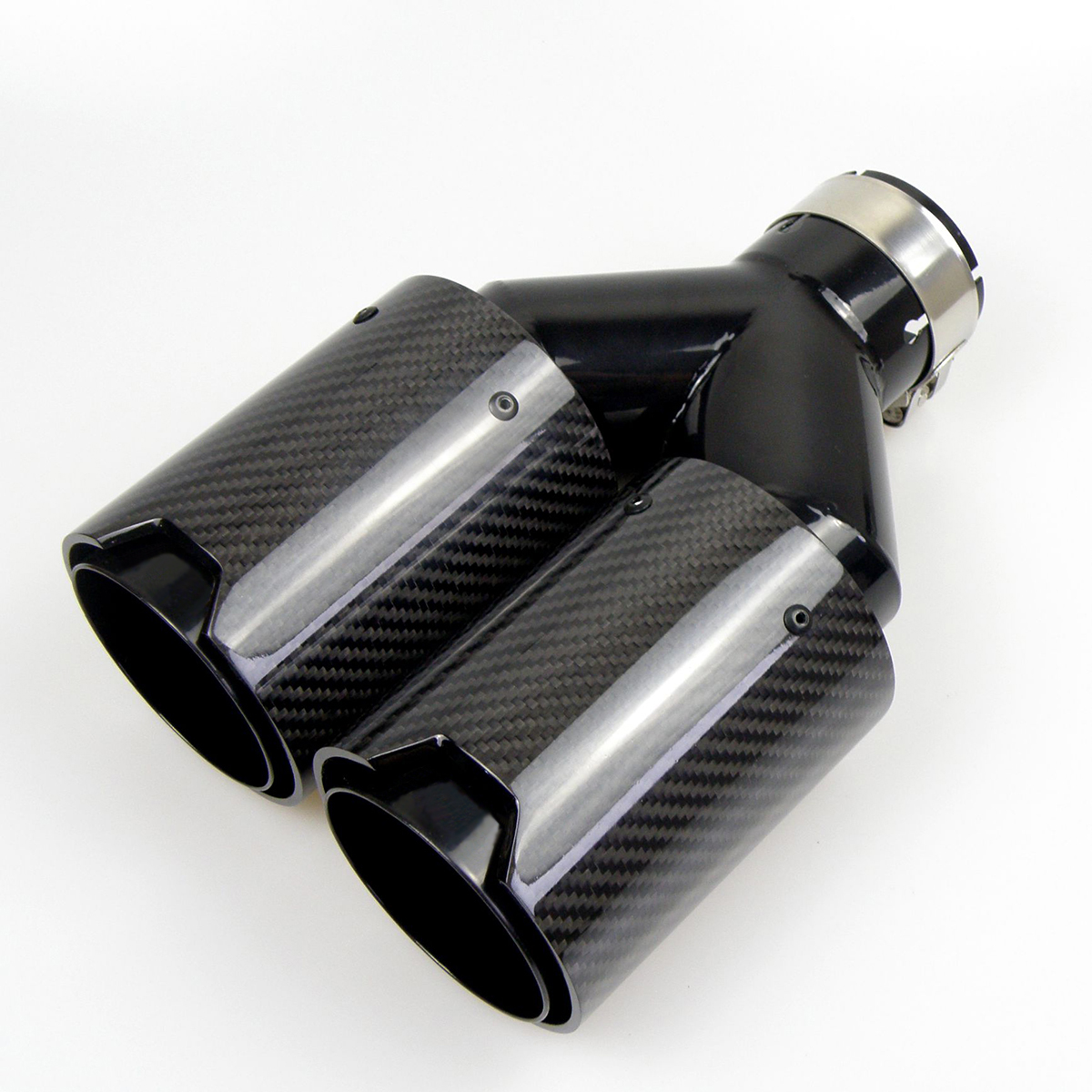 Dual Carbon Fiber Black Stainless Steel Universal M Performance Carbon Fiber Exhaust Tips End Pipes Muffler Tips For Bmw Mufflers Aliexpress