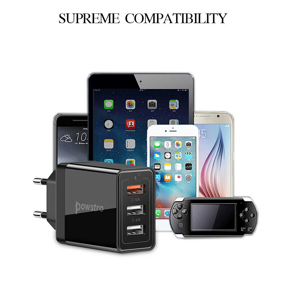 Schnelle Ladegerät 3 USB Ladung 30W FC 3,0 2,4 EINE QC Schnelle Lade Handy Ladegerät Für IPhone Samsung xiaomi Huawei Lg