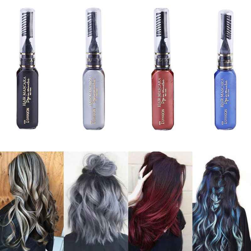 Stylo de crème de Mascara de colorant de couleur de cheveux temporaire jetable bricolage moulant les outils cosmétiques Non toxiques professionnels de coiffure de Salon