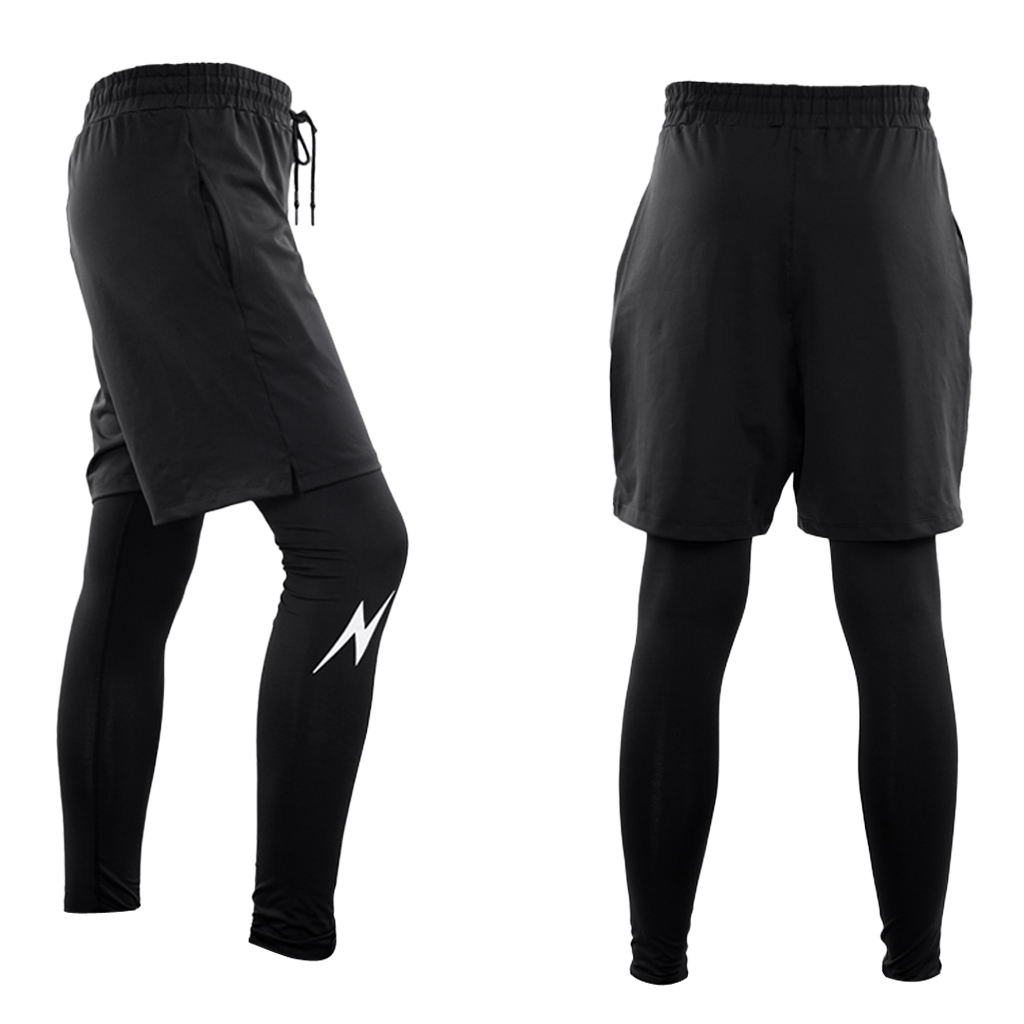 Men's Sports Leggings Fitness Pants Quick Dry MTB Mountain Rode Bike Bicycle Cycling Running Compression Sports Cycle Pants
