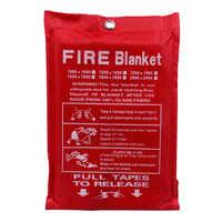1M X 1M Feuer Decke Fiberglas Feuer Flamme Hemmende Notfall Überleben Weiß Feuer Shelter Sicherheit Abdeckung Feuer Notfall decke