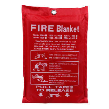 1M X 1M Fire Blanket Fiberglass Fire Flame Retardant Emergency Survival White Fire Shelter Safety Cover Fire Emergency Blanket фото