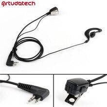 Artudatech Security G-Shape Hanging Headset Earpiece 2 Pin Mic For Motorola Radio CP140 CP040 GP300 XTNI  CP 040 140 GP 300