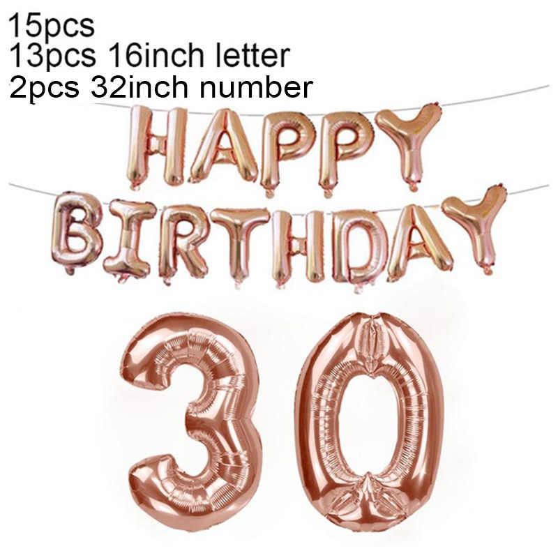 18 21 30 40 50 60 70 80 urodziny Deco zestaw z balonów foliowych lat urodziny 18th 30th 40th dekoracje na imprezę urodzinową dla dorosłych balon