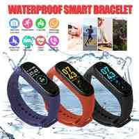 IP67 M4 Smart Wristband fitness Health Watch banda di frequenza cardiaca Misuratore di Pressione Sanguigna Intelligente Del Braccialetto per Gli Uomini Le Donne Smartband