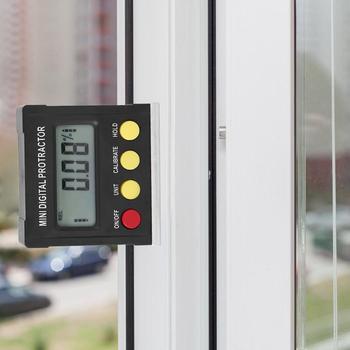 Horizontal Caixa De Medidor De Ângulo Digital Transferidor Inclinometer Nível Eletrônico Base Magnética Ferramentas De Medição