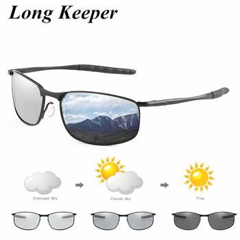Photochromic Brand Designer Sunglasses Men Polarized lens Chameleon Glasses Male Change Color Sun Glasses Driving Goggles UV400