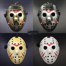 Stylish Jason Voorhees Friday The 13th Horror Hockey Mask Scary Halloween Mask Party Masks beier stainless steel biker jason voorhees hockey halloween mask pendant necklace with red colour antique cool jewelry bp8 362