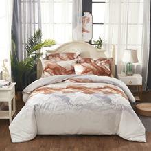 Jivetulu серый чернила печатных постельное белье набор домашнего
