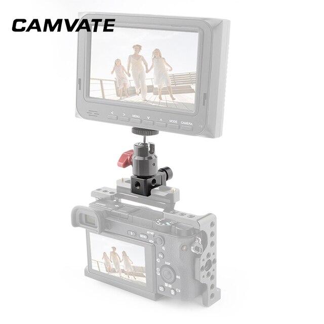 """CAMVATE kamera standart NATO ray kelepçesi hızlı bırakma Swat ray kelepçesi 1/4 """" 20 montaj noktaları DSLR kamera kafesi/kolu"""
