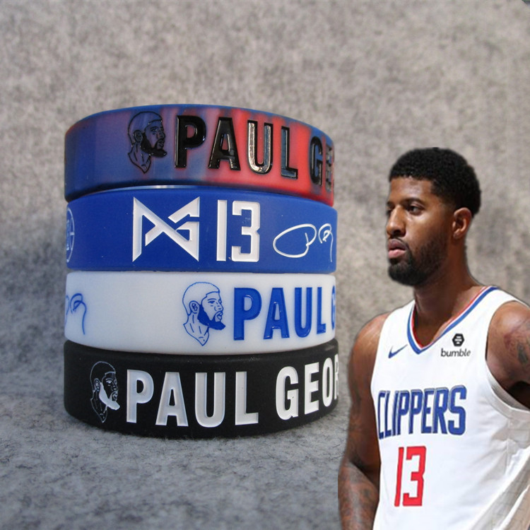 Clippers 13 Basketball Star Polo. George Avatar Kuan Kuan Silica Gel Night Light Bracelet Lava Color Mixture Wrist Strap Fans