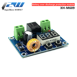 XH-M609 DC voltage protection module, lithium battery, low voltage loss, 6-60V low power disconnect output