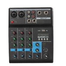 Mesa de tuning executar gravação de canto ao vivo computador placa de som do telefone móvel reverberation bluetooth pequeno 4-way tuning tabela