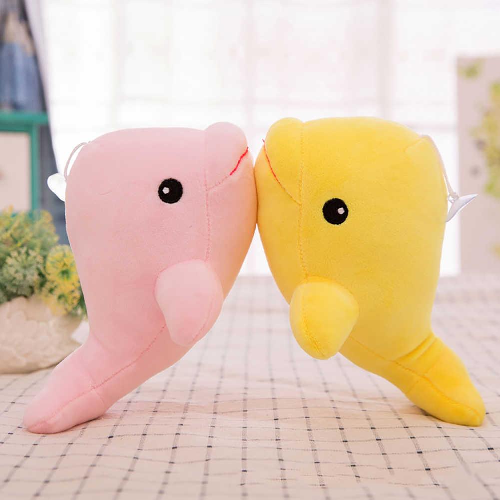 Juguetes de peluche Soild Color 6 pulgadas de dibujos animados delfín Animal muñeca suave tiro almohada cojín sofá decoración del hogar regalo juguete nuevo