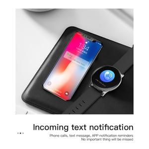 Image 2 - Reloj inteligente W8 para Android, reloj inteligente deportivo resistente al agua, con control del ritmo cardíaco y de la presión sanguínea de hombre y mujer