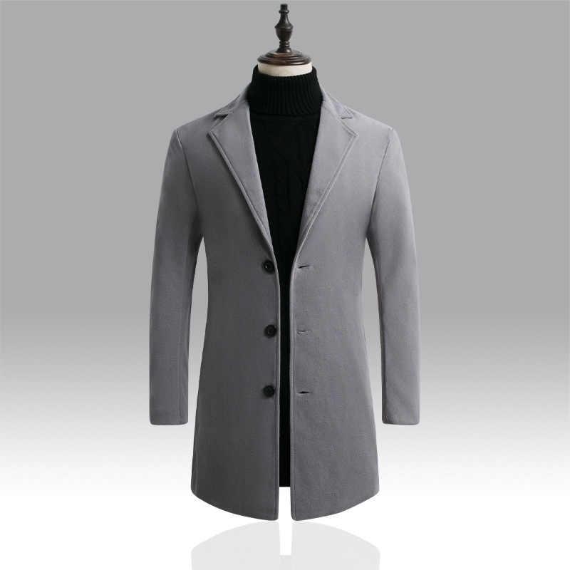 DIHOPE 2020 nouveau hiver vestes coupe-vent hommes automne vêtements d'hiver chauds marque mince hommes manteaux vestes décontractée mâle manteau