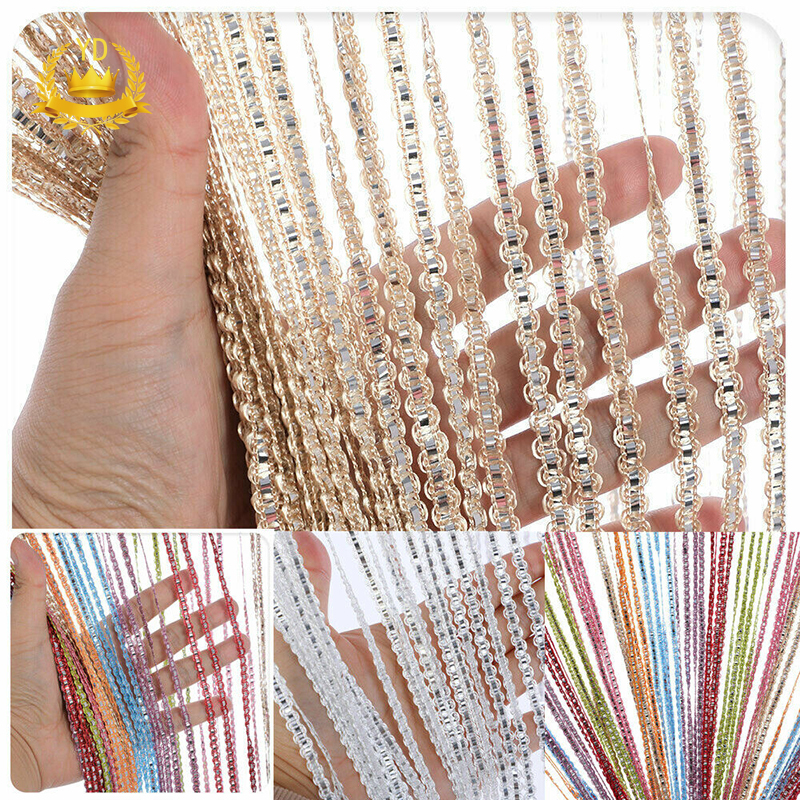 Hot Door and Window Panel Fly Screen Fringe Room Screen Tassel Panel Beaded Curtains Home Decoration