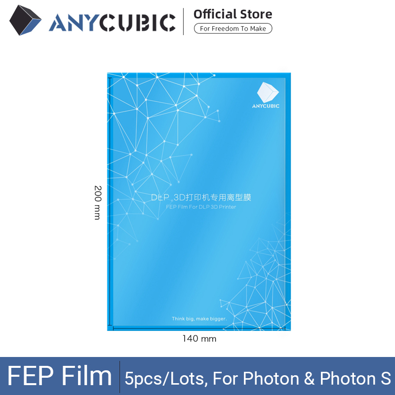 ANYCUBIC 5pcs Lots FEP Film for Photon Resin 3D printer 140x200mm SLA LCD Fep Sheets 0 15-0 2mm 3D Printer Filaments  impresora