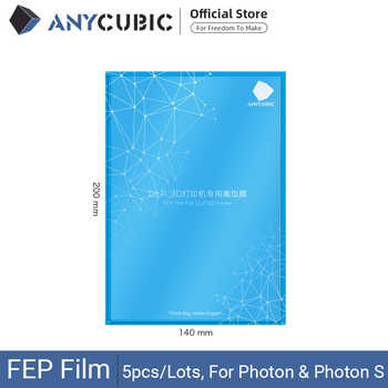 ANYCUBIC 5pcs/Lots FEP Film for Photon Resin 3D printer 140x200mm SLA/LCD Fep Sheets 0.15-0.2mm 3D Printer Filaments impresora - DISCOUNT ITEM  20 OFF Computer & Office