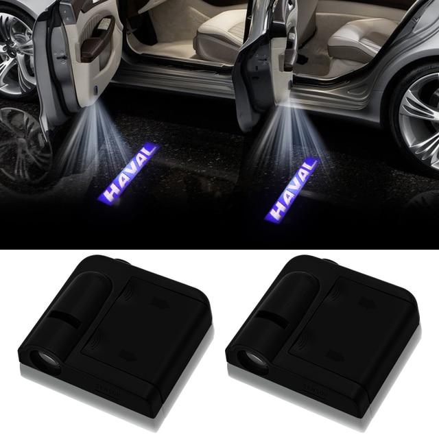 1 pièces sans fil Led porte de voiture bienvenue Laser projecteur Logo fantôme ombre lumières pour grande muraille Haval Hover H3 H5 H6 H7 H9 H8 H2