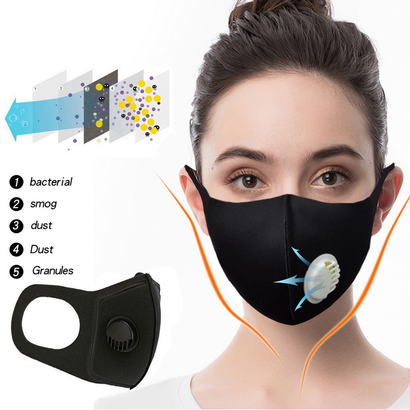 Anti Pollution Pm2.5 Thicken Respiratory Valve Dust Mouth Mask Upgraded Unisex Anti-fog Haze Dust  3D Cropped Breathable Mask