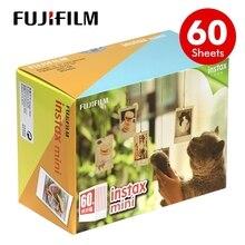 Oryginalny 60 arkuszy Fujifilm Instax mini 9 filmów biała krawędź 3 Cal dla aparat natychmiastowy 7 8 11 25 50s 70 90 sp 1 sp 2 papier fotograficzny