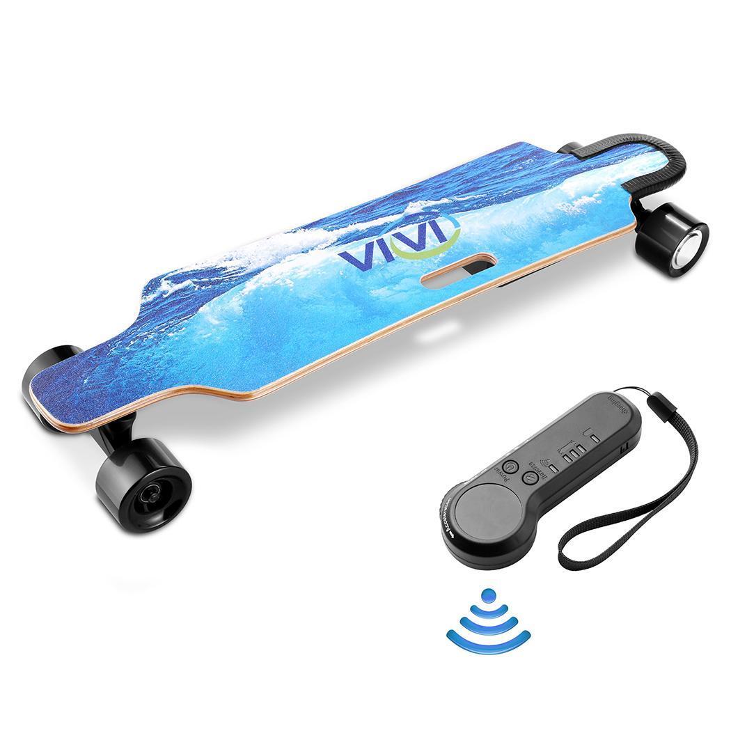 Remote Control Electric Skateboard 12.4 MPH Top Speed 350W 10 Miles Max Range 35.4x9.1x4.9inch 2