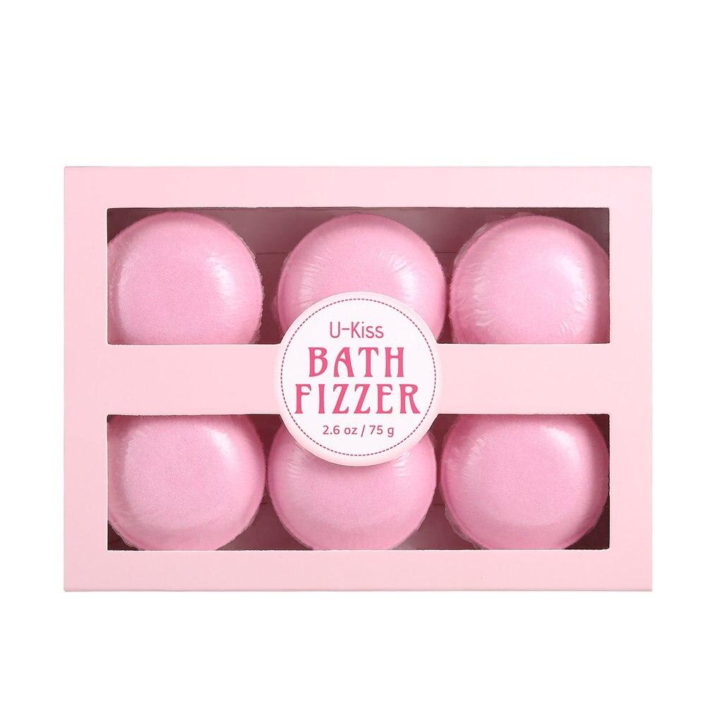 6pcs/set Bath Bombs Bath Salts Bath Fizzer All Natural Ball Essential Oil Handmade Home SPA Moisturizing Skin Stress Relief