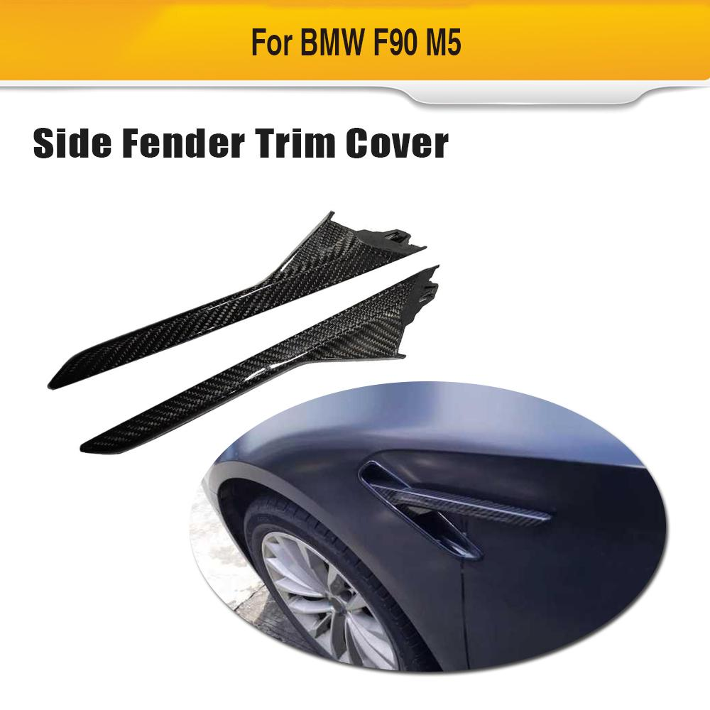 For F90 M5 Carbon Fiber Car Fender Vent Trim For BMW 5 Series F90 M5 2018 Car Exterior Parts Spoiler