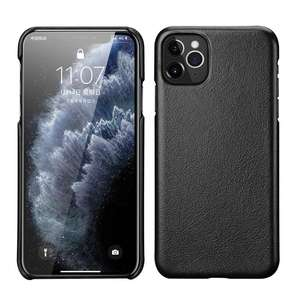 Image 3 - Genuine Leather Case For iPhone X XR XS Max 11 Pro MAX 11Pro Cover Funda Capa Matte Real Leather Case For iPhone XR XS Max Case