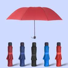 Mutis cores manual aberto parapluie três dobráveis guarda chuva guarda-chuvas de chuva para homem e mulher