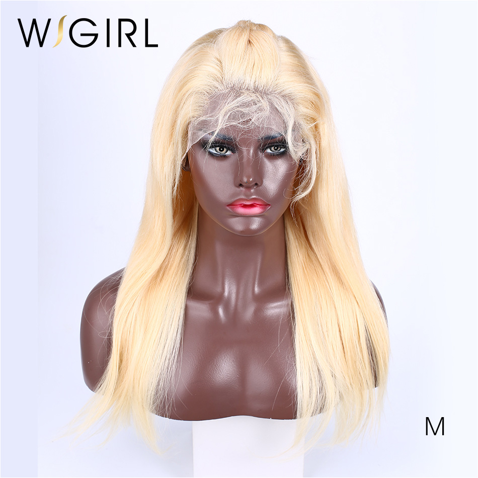Wigirl Invisible Transparent 613 13*6Lace Front Human Hair Wig 150% Straight Remy  Lace Frontal Wig For Black Women Pre Plucked