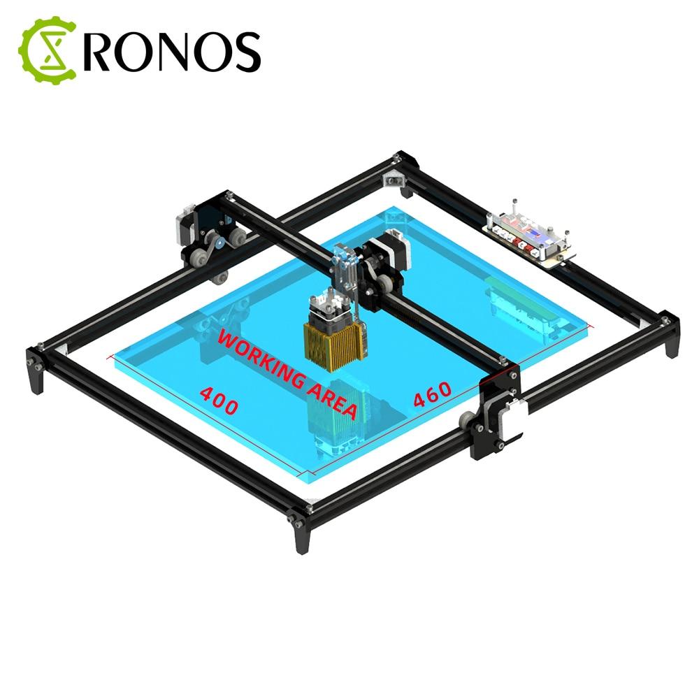 40*50cm Mini 15W CNC Machine de gravure Laser 2 axes bricolage 15000MW graveur bureau bois routeur/Cutter/imprimante + lunettes Laser