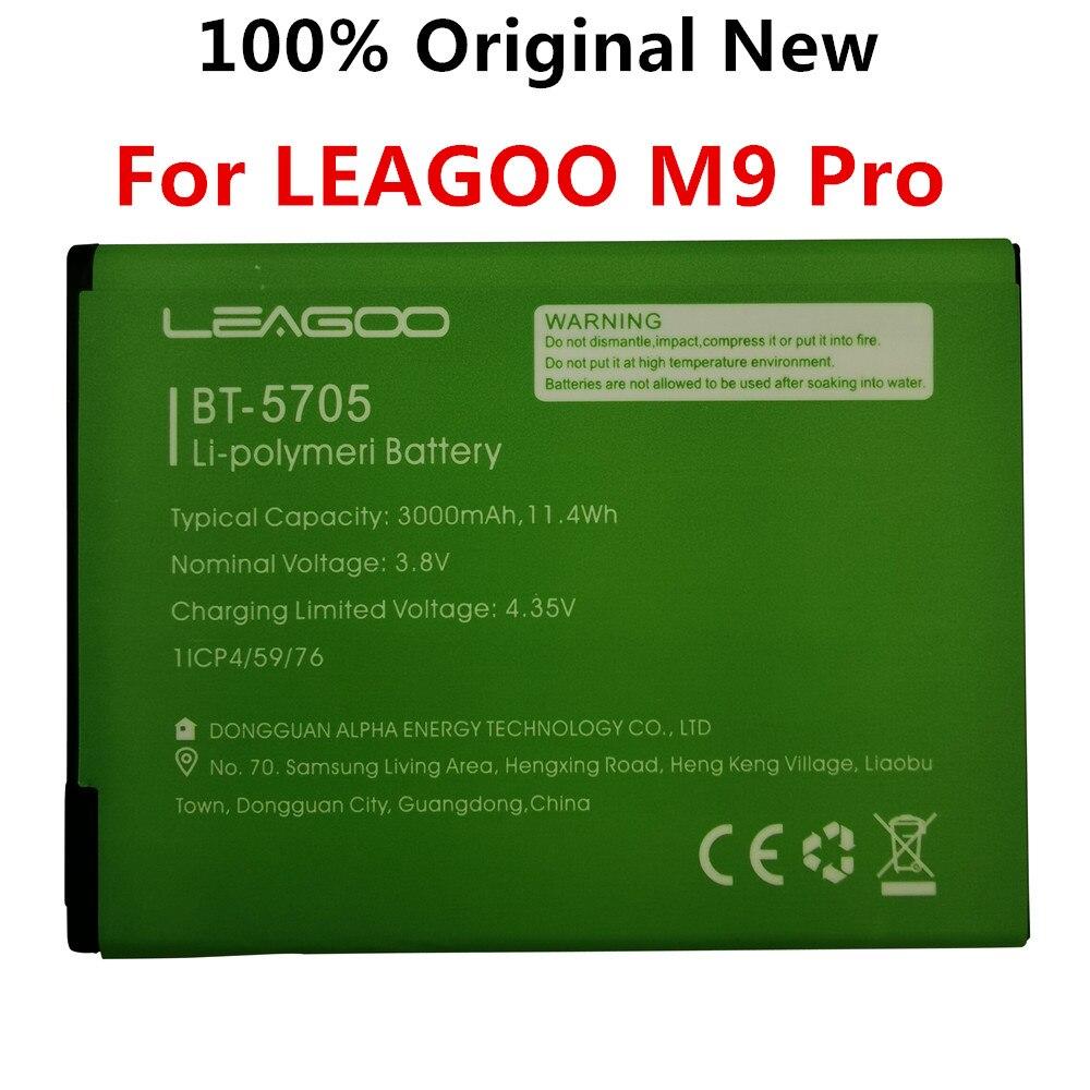 100% Original New BT-5705 3000mAh Battery For LEAGOO M9 Pro M9Pro BT5705 BT-5705 Mobile Phone Smart Parts Bateria Batterie