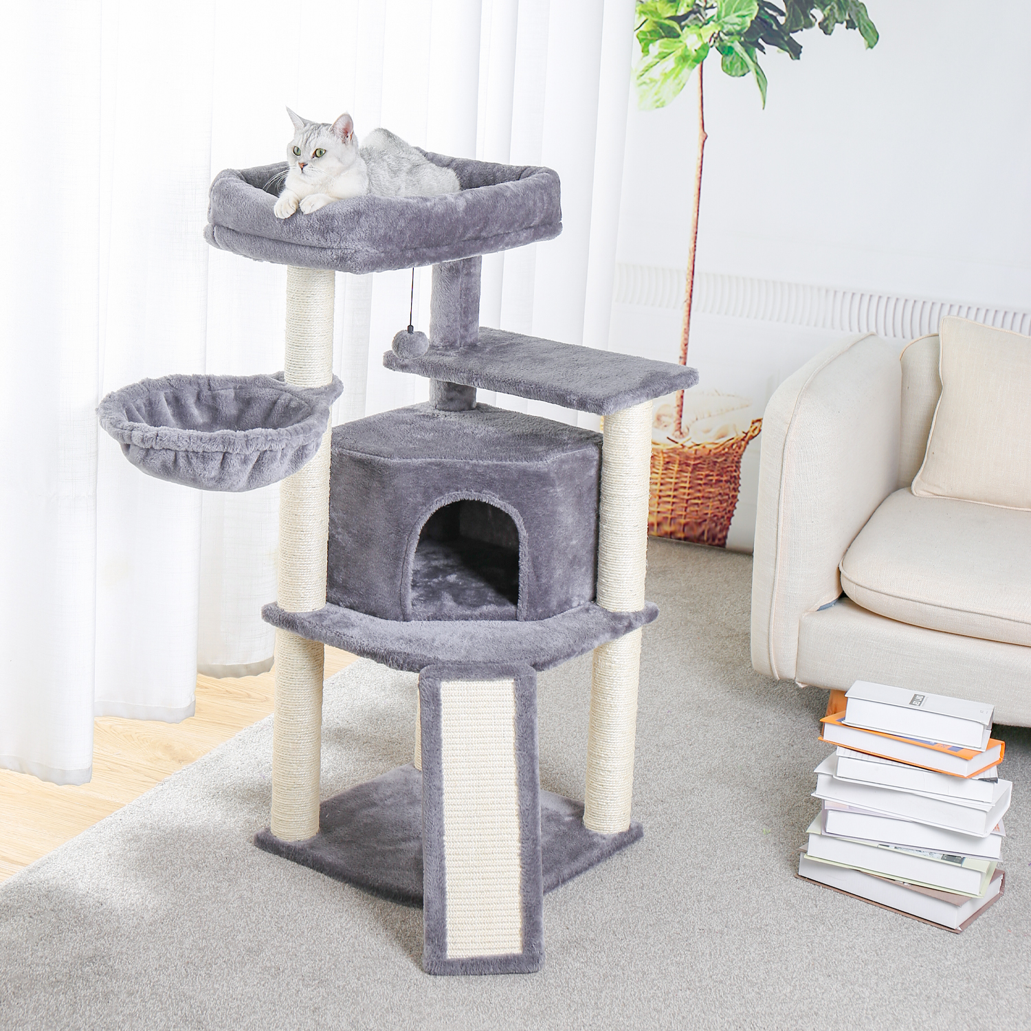 <font><b>Pet</b></font> <font><b>Cat</b></font> <font><b>Tree</b></font> <font><b>Tower</b></font> Condos House Scratcher Scratching Posts for <font><b>Cat</b></font> Climbing <font><b>Tree</b></font> Toy Activity Protecting Furniture <font><b>Pet</b></font> <font><b>Cat</b></font> House image