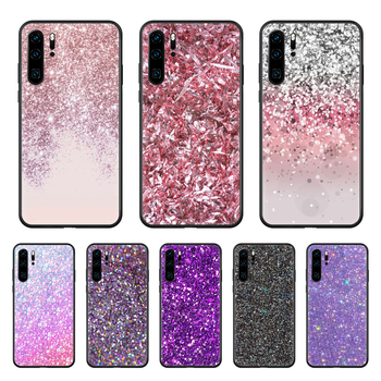 Glittering personality Phone case For Huawei P 30 10 20 40 Lite Smart Z Pro 2019 black Etui 3D cover painting hoesjes silicone image
